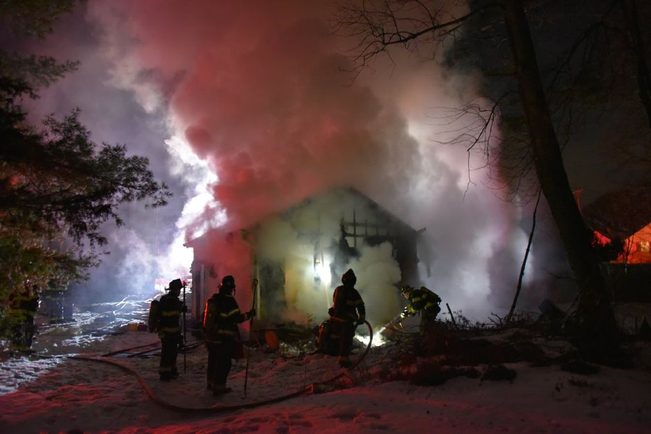 Fire at 206 Gale Avenue, Meriden on Feb. 21, 2021 (Courtesy of Michael Quinn)