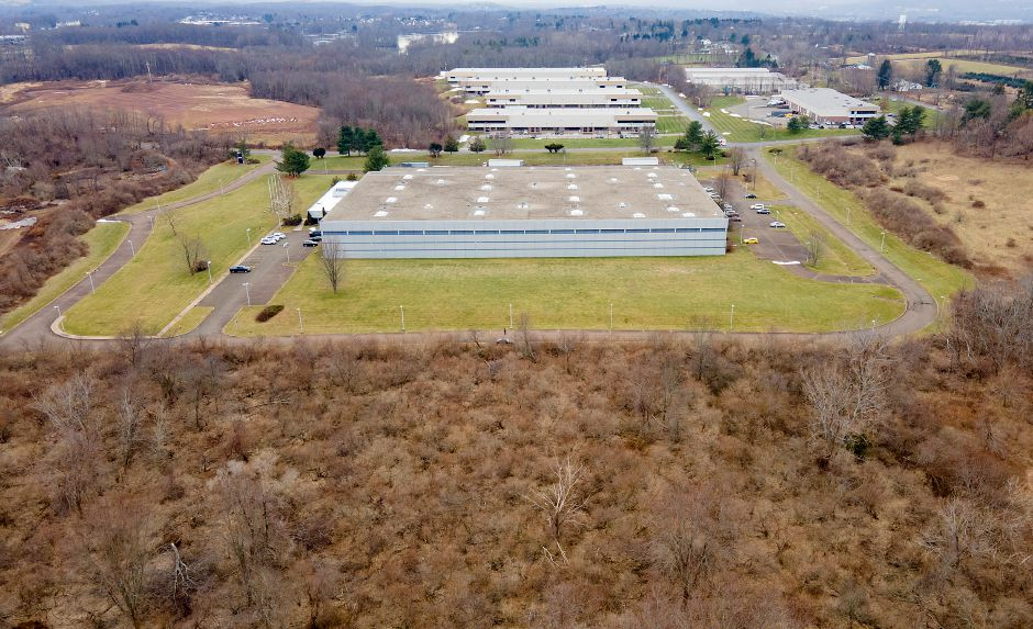 View looking south from behind Flexo-Converter shows part of a 50-acre site at 850 Murdock Ave. in Meriden being considered for a 163,000-square foot warehouse and distribution operation, Mon., Jan. 11, 2021. Dave Zajac, Record-Journal