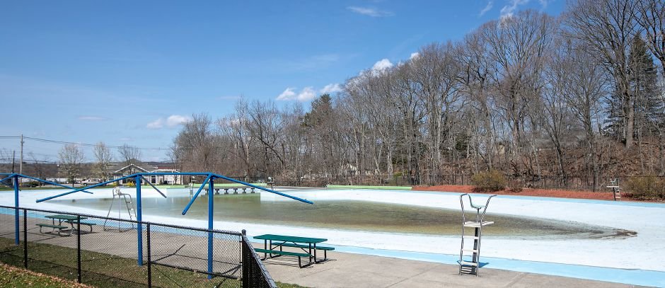 The Wallingford Community Pool is seen earlier this month. Mayor William W. Dickinson Jr. is advising that the project to renovate it be delayed.File photo, Record-Journal