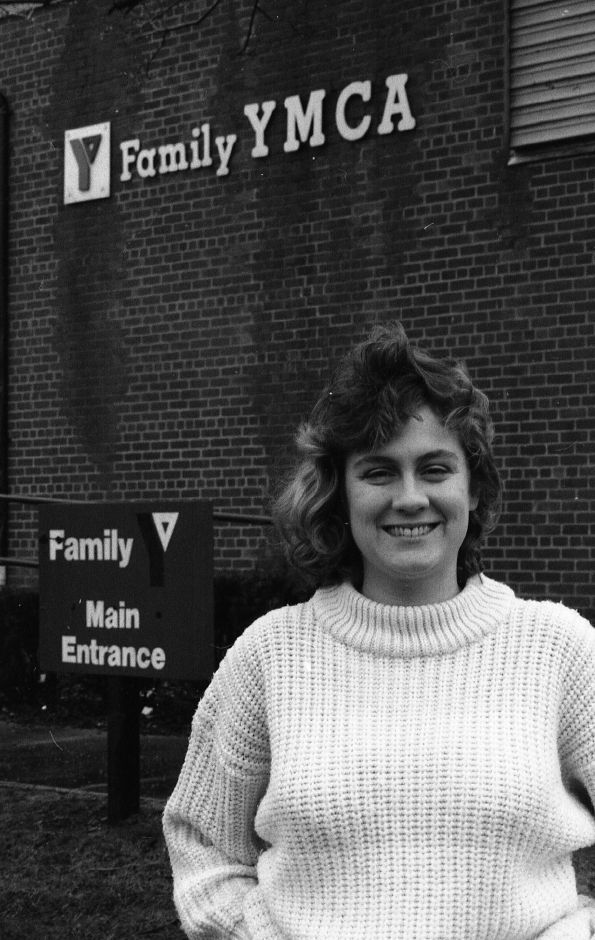 RJ file photo - Dawn Sturtevant, Wallingford Family YMCA program director, is leaving her position after three years, Feb. 1989.