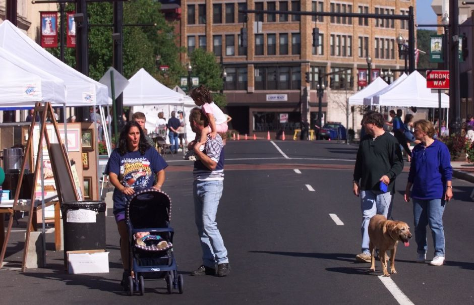 The downtown arts festival scene on West Main Street Sunday afternoon Sept. 19, 1999.