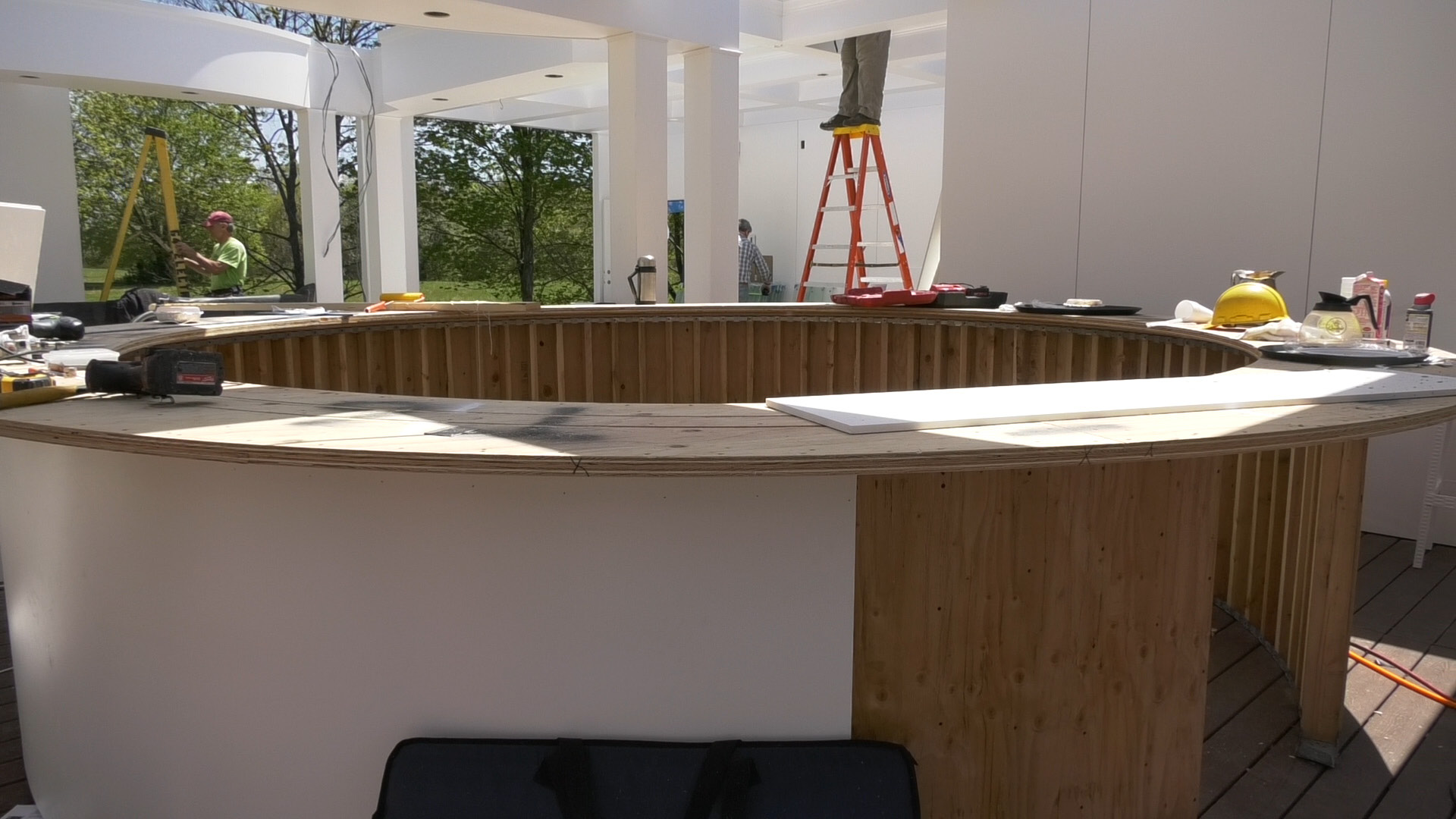 There will be a circular bar on the new rooftop dining area at the Cava  Restaurant in Southington. | Pete Paguaga, Record-Journal