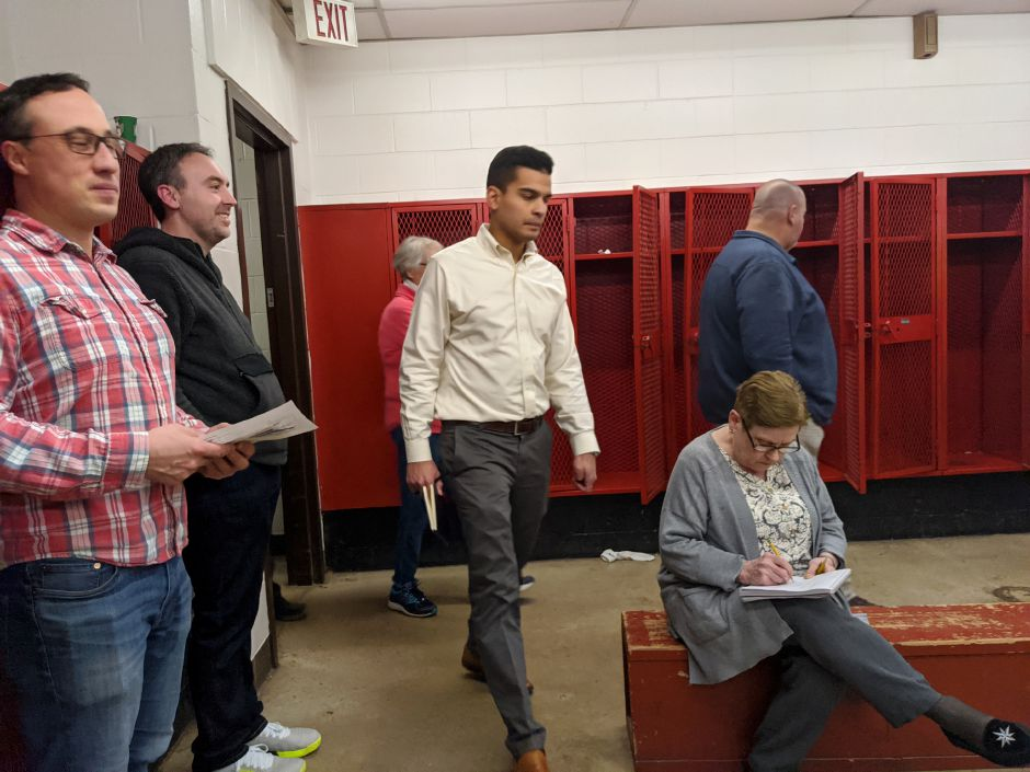 The School Modernization Committee tours Cheshire High School.