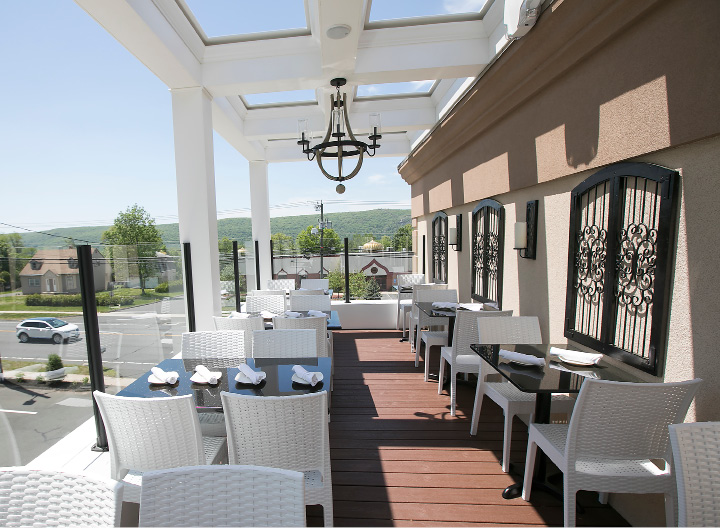 The rooftop patio is now open at Cava Restaurant in Southington, Thursday, May 18, 2017.  | Dave Zajac, Record-Journal