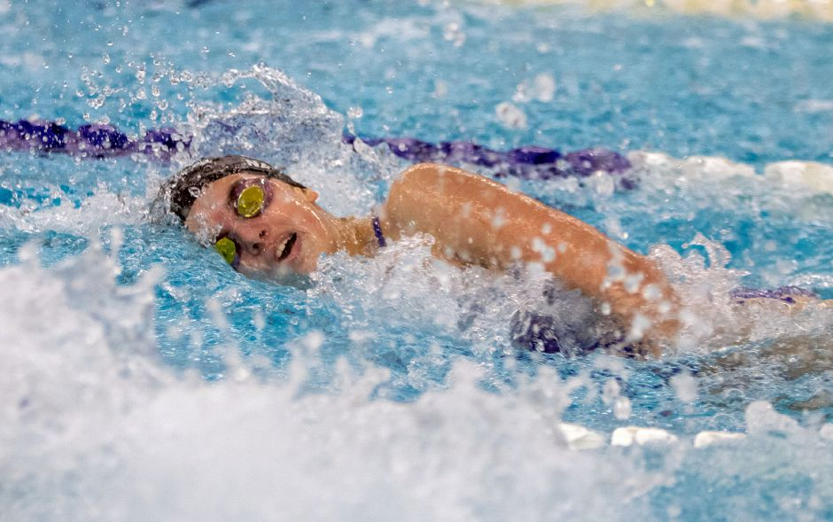 Senior Andie Nadeau holds the Southington records in the 200 and 500 freestyles. She is a two-time All-Record-Journal swimmer. Aaron Flaum, Record-Journal