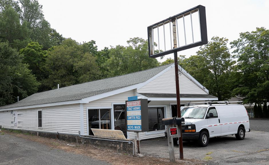 The former Civali's Hardware property, which spans 1387-1391 E. Main St. in Meriden,  is being renovated for two or three offices, according to an ownership partner, Fri., Aug. 28, 2020. Dave Zajac, Record-Journal