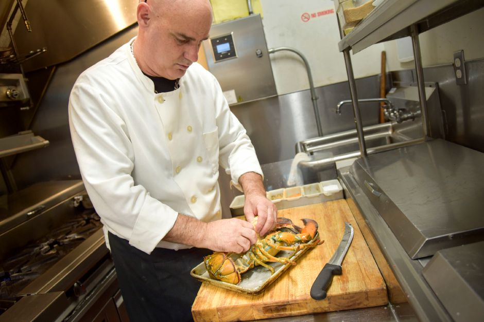 Owner and Head Chef Rick McClain prepares food at Nataz in Southington on Thursday, August 15, 2019. | Bailey Wright, Record-Journal