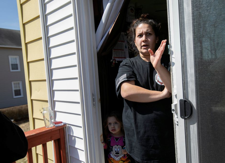 Martiqa Serrano Caban, of Meriden, talks at her Gale Avenue residence, Wed., Mar. 27, 2019. Serrano Caban and other neighbors have concerns over an approved retail development on Broad Street. Dave Zajac, Record-Journal
