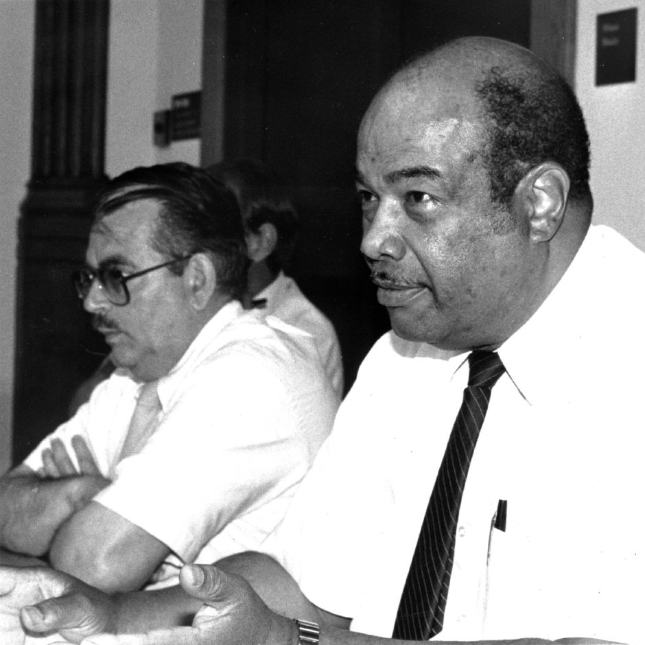 RJ file photo - Tom Cioffi, left, and Roy Gooding, right, June 1990.