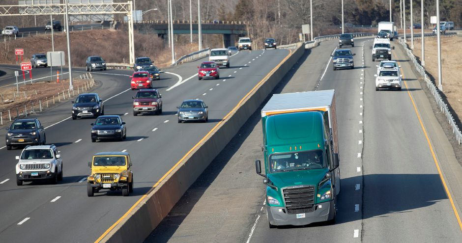 View from East Main Street shows motorists traveling on Interstate 91 south and Route 15 south in Meriden, Mon., Feb. 17, 2020. Dave Zajac, Record-Journal
