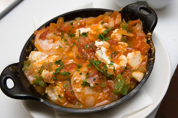 Shrimp saganaki available at the newly renovated Cheshire Pizza & Ale at 133 Highland Ave. in Cheshire, Monday, January 16, 2017.  | Dave Zajac, Record-Journal
