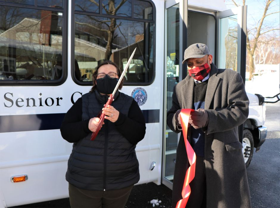 The Berlin Senior Center held a ribbon-cutting ceremony Wednesday for a new bus | Nadya Korytnikova, Record-Journal