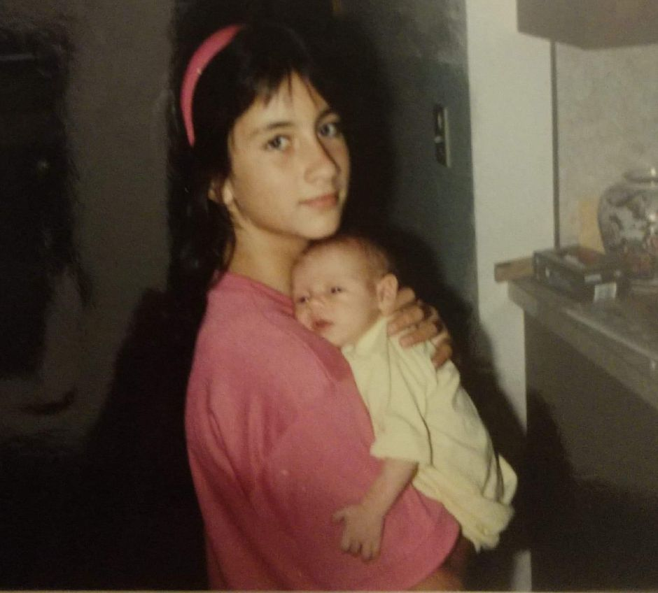 Family photos of Doreen Vincent, who went missing at age 12 from her father's Wallingford home in 1988. Doreen holding her sister, Sarah Vincent. | Contributed by Paul Vincent