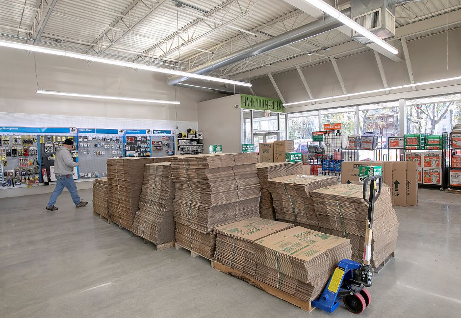 Boxes and other moving supplies are  available at the new U-Haul at Lincoln Plaza, 311 W. Main St, Meriden. U-Haul opened a 5,000-square-foot retail and rental store and will add 200 self-storage units in empty storefronts in the rear. Dave Zajac, Record-Journal