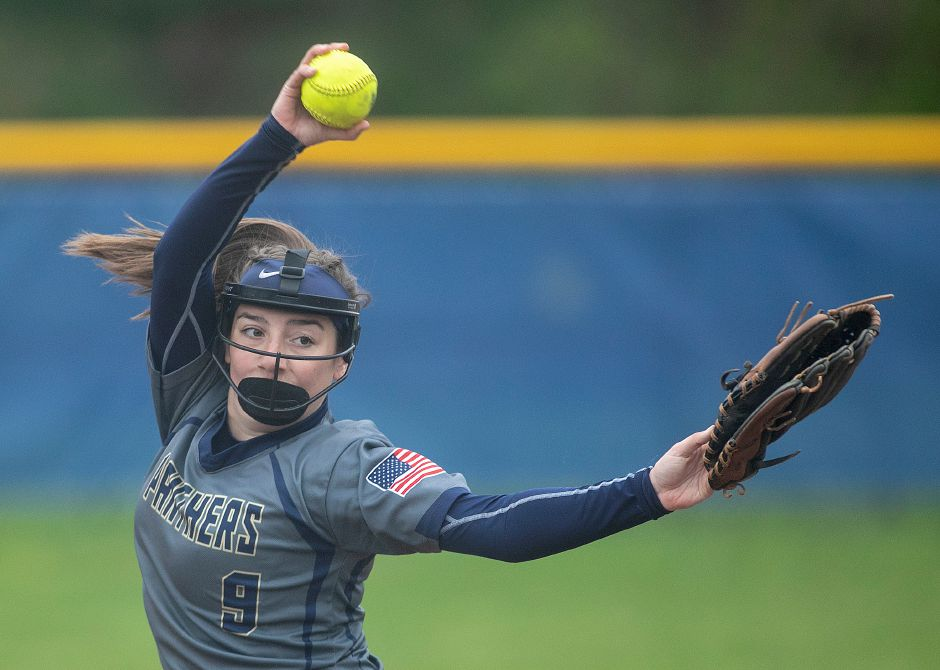 Caitlyn Hart struck out 15 and allowed just two hits in Platt's 5-0 victory Tuesday at Wilcox Tech. | Dave Zajac, Record-Journal