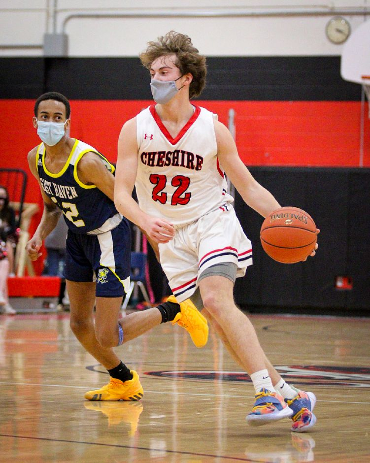 Cheshire junior guard Luke Nieman was the area's leading 3-point shooter this winter, hitting 33 times from beyond the arc. He averaged a team-high 13.6 points a game for the Rams. James Brandolini, Cheshire Herald