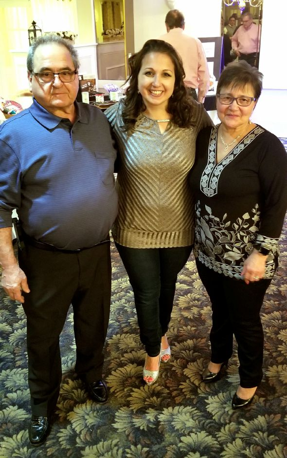 OLMC former parent, Corrado Rizza with his daughter, Claudia Schmidt (PreK 3 Teacher at OLMC), and wife, Angela Rizza.