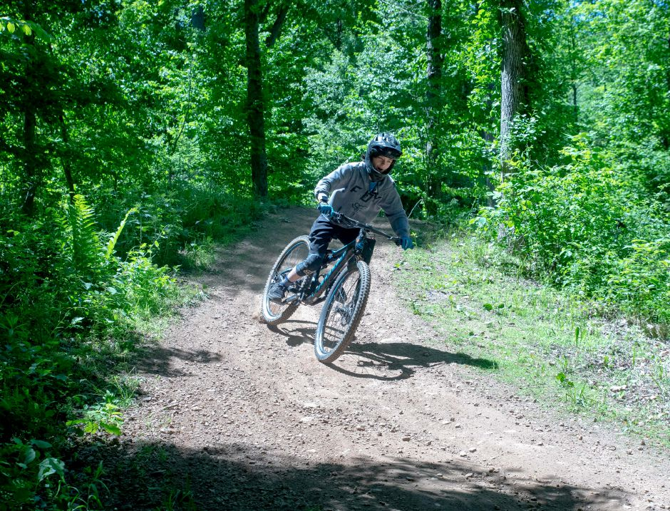 To comply with the state's reopening guidelines, Powder Ridge is limiting mountain biking attendance to 250 people a day. | Devin Leith-Yessian/Record-Journal