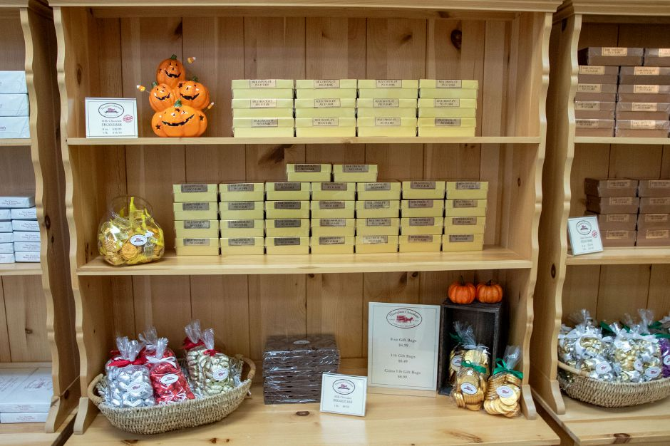 A variety of types of chocolates are for sale as the Thompson Chocolate's retail store in Meriden. Aaron Flaum, Record-Journal