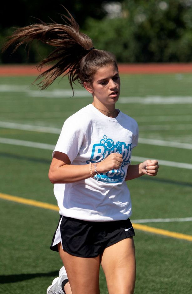 Junior Olivia Weir will be among the leading runners this fall for the Lyman Hall girls cross country team. | Aaron Flaum, Record-Journal