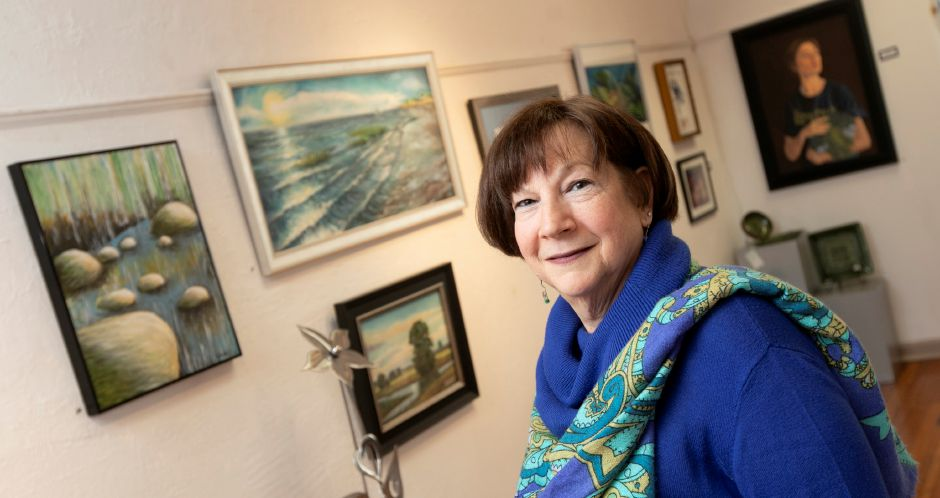 Sandy Goodyear is the new director of Gallery 53 on Colony Street in Meriden, Thurs., Feb. 20, 2020. Goodyear replaces Rita Sarris who retired at the end of 2019. Dave Zajac, Record-Journal
