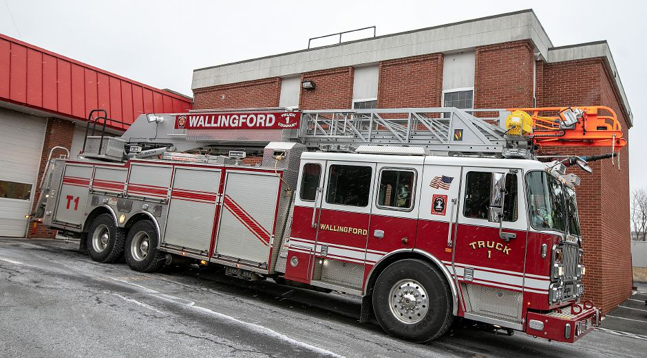 Truck 1 at Wallingford Fire Headquarters, Wed., Jan. 30, 2019. Dave Zajac, Record-Journal