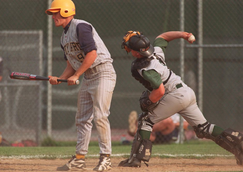 Josh guns one to first and makes the out to end the inning, June 1999.