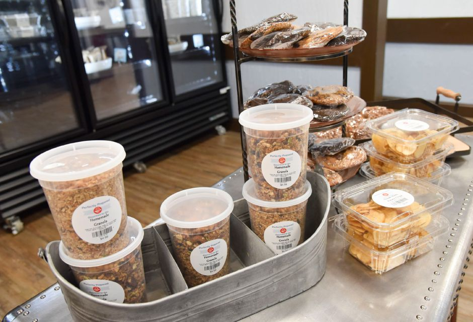 Granola and bakery items available at Perfectly Prepared, Gourmet to Go in Cheshire, pictured on Wednesday, August 28, 2019. | Bailey Wright, Record-Journal