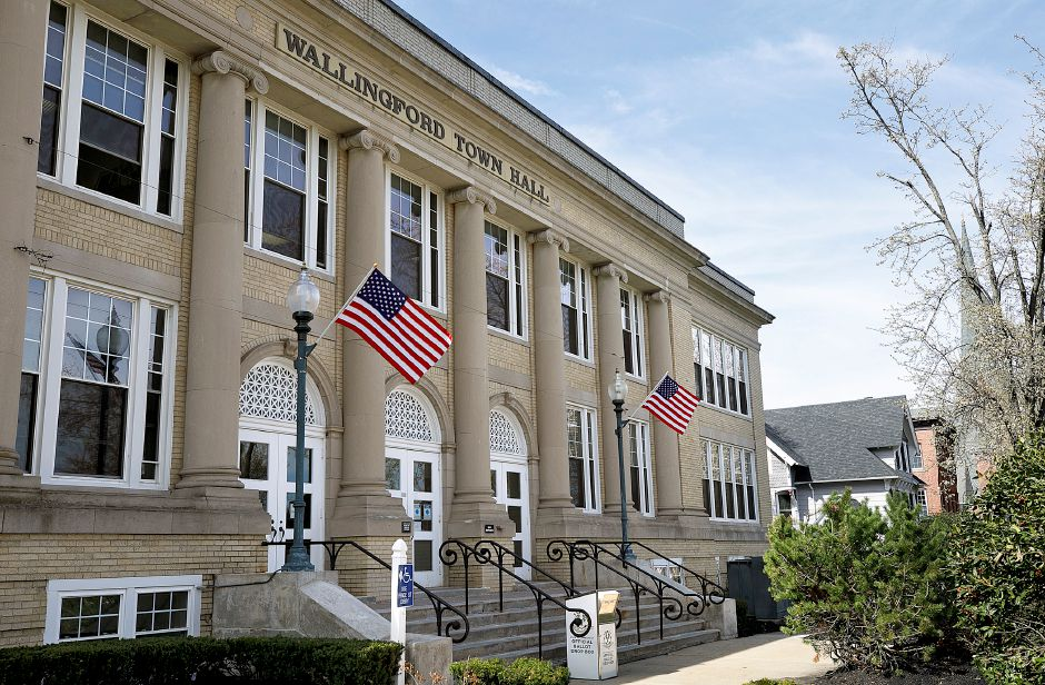 Wallingford Town Hall, Fri., Apr. 9, 2021. Bowes is retiring from his position after more than 30 years in local government. Dave Zajac, Record-Journal