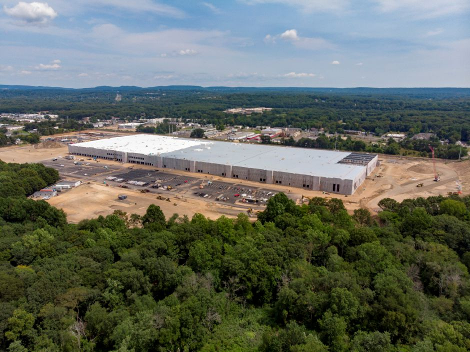 Construction Progressing On Amazon Fulfillment Center Off Route 5 In North Haven