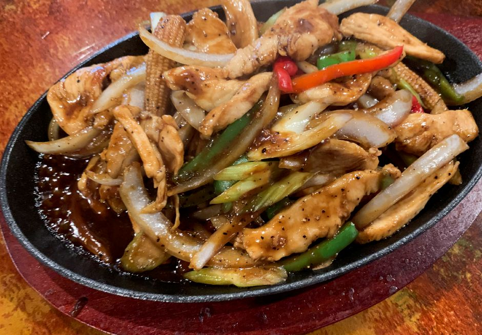 A chicken teriyaki dish made at Hot Pot in Wallingford, on Wednesday, July 31, 2019. The restaurant opened last week and serves a variety of Chinese food. | Bailey Wright, Record-Journal