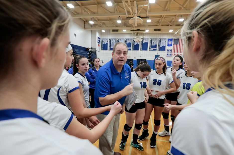 This year, the postseason will consist of two games in a mini-tournament for coach Rich Heitz and his Southington girls volleyball team. The Central Connecticut Conference unveiled its fall tournament plans on Wednesday. Record-Journal file photo
