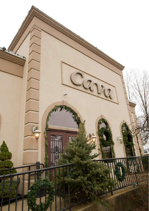 Cava Restaurant in Southington Wednesday, November 30, 2016. The business has an all new holiday display for patrons and is located at 1615 West St.  | Dave Zajac, Record-Journal