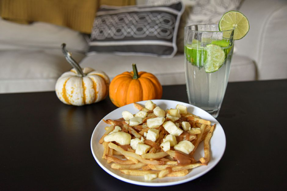 Homemade poutine and a Lime Rickey, pictured Sept. 29, 2020. | Bailey Wright, Record-Journal