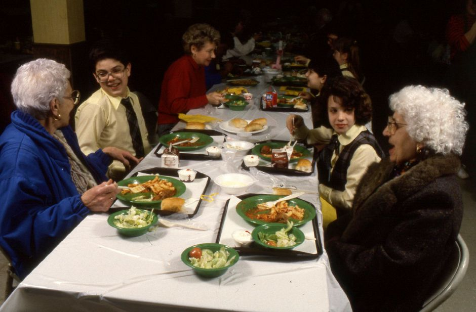 RJ file photo - A luncheon for grandparents at Mt. Carmel School in Meriden, Jan. 1990.