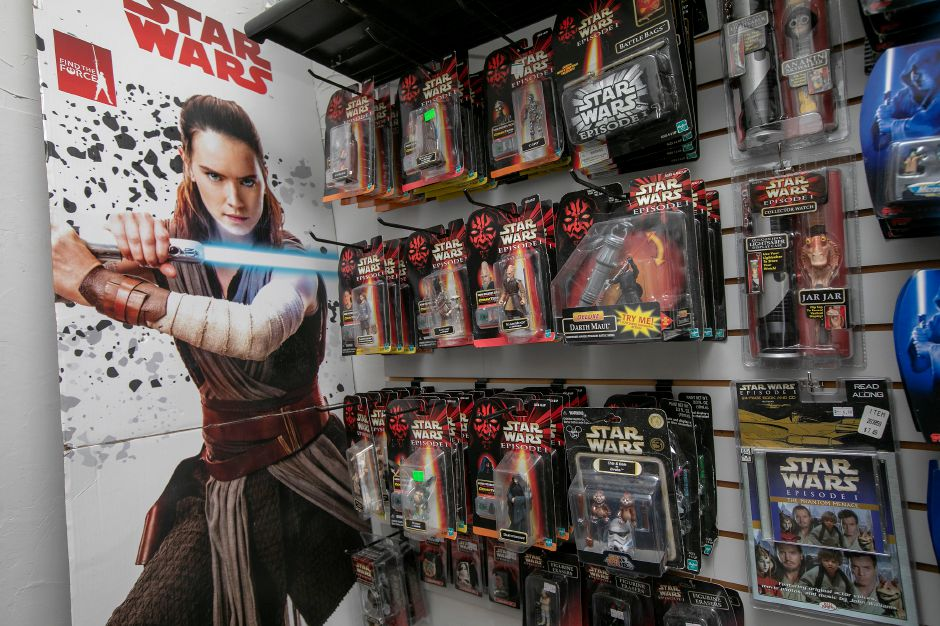 Some of the many Star Wars action figures at This Toy Life. Dave Zajac, Record-Journal