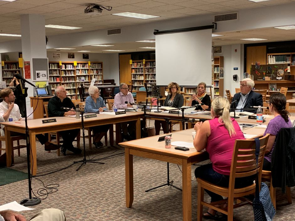 The Board of Education met on Wednesday, Sept. 11 to discuss the beginning of the school year as well as issues at Strong School involving racism. Photo by Everett Bishop, Town Times