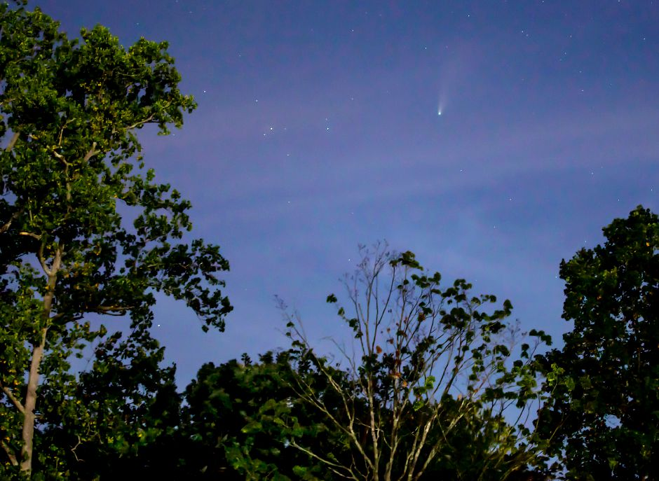 Comet NEOWISE as viewed from Hubbard Park in Meriden. The 3-mile-wide comet was discovered on March 27, 2020 and will not be visible again for another 6,800 years.Dave Zajac, Record-Journal