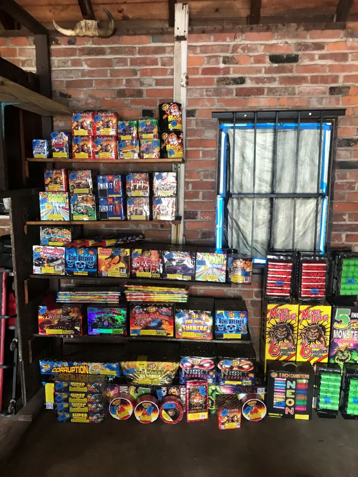 Police announced officers seized 5,000 worth of illegal fireworks stored in a garage behind a two-family home at 171-173 Bunker Avenue on Friday.