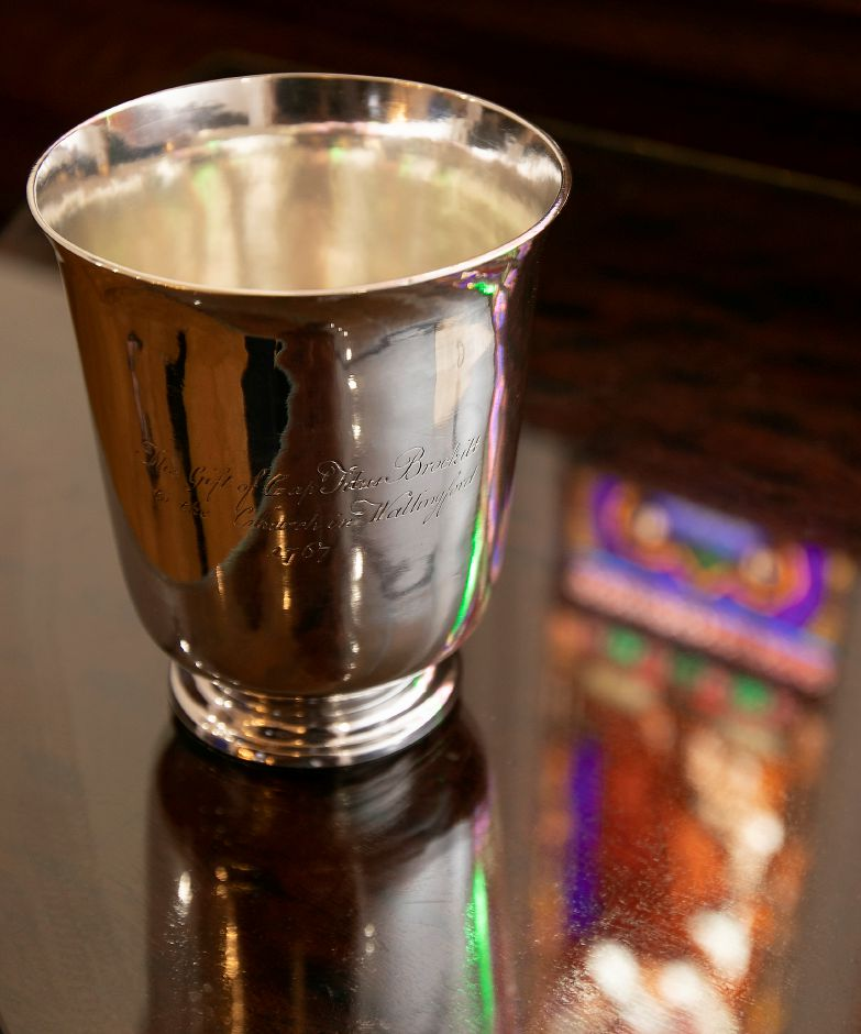 A chalice gifted by Capt. Titus Brockett to St. Paul