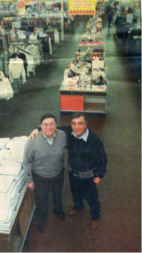 December 1995: Nu-Stars closed after 38 years of selling discount goods. Dominic Scarano, left, and Stanley Goldman founded the chain of stores, originally called simply Stars, which reached 12 locations at its peak. | Record-Journal archive