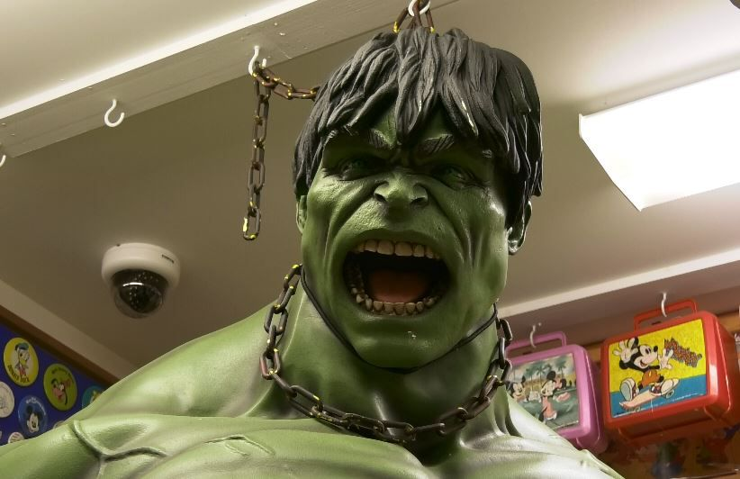 A giant Hulk statue at the Barker Character, Comic and Cartoon Museum, 1188 Highland Avenue, Cheshire. |Ashley Kus, Record-Journal