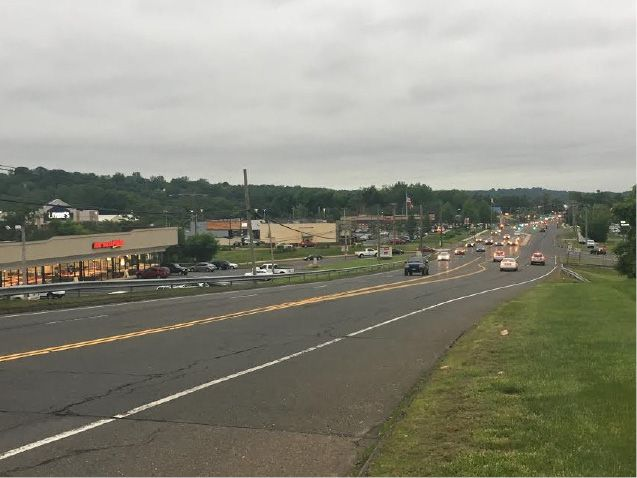 June 2017: Traffic on Route 5 flows a bit more freely among several new businesses, including Lowe
