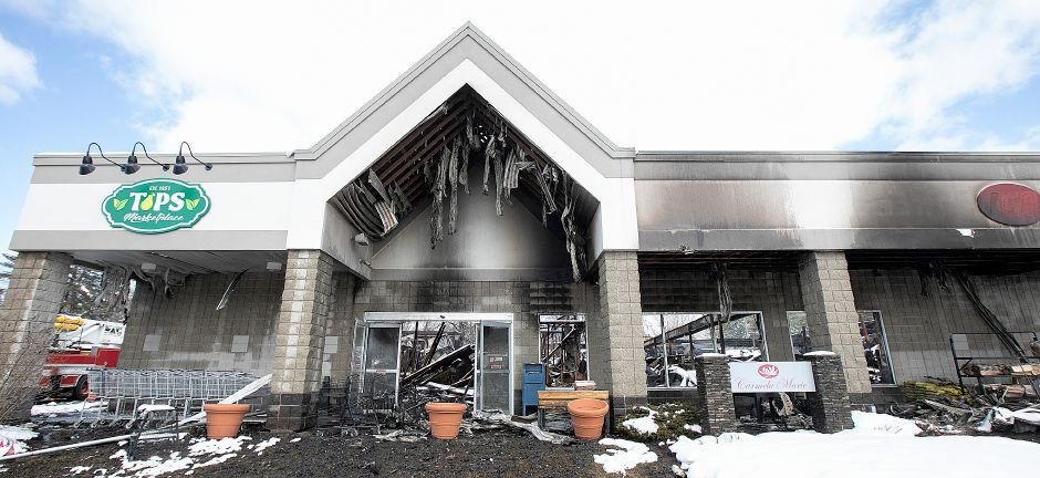 Tops Marketplace, 887 Meriden-Waterbury Turnpike in Southington, Mon., Mar. 4, 2019. The business was destroyed by fire Sunday night. Dave Zajac, Record-Journal