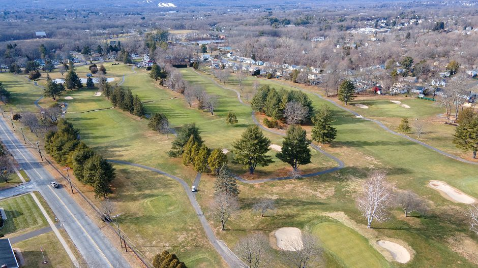 Southington Country Club as seen Monday from above Savage Street. Town officials are considering a development rights purchase for the property, a $4.5 million deal that would prevent housing construction on the 90-acre golf course. Dave Zajac, Record-Journal