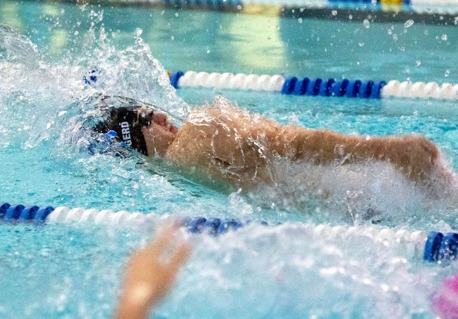 Tyler Heidgerd won CCC West championships in the 100 backstroke and 200 freestyle. He was also part of conference championships with the 200 medley and 400 freestyle relays. Aaron Flaum, Record-Journal