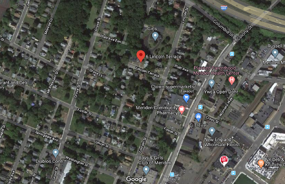 The Meriden Fire Department responded to 6 Lincoln Terrace early Friday morning. | Google Maps