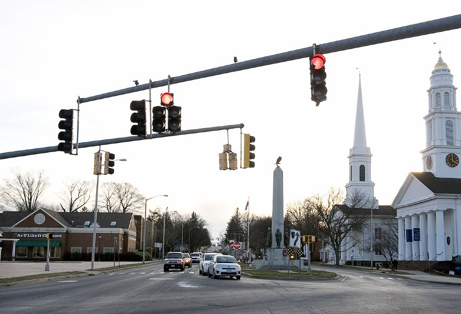 View of the intersection of East Main and Broad Streets in Meriden, Wednesday, Jan. 20, 2016. | Dave Zajac / Record-Journal