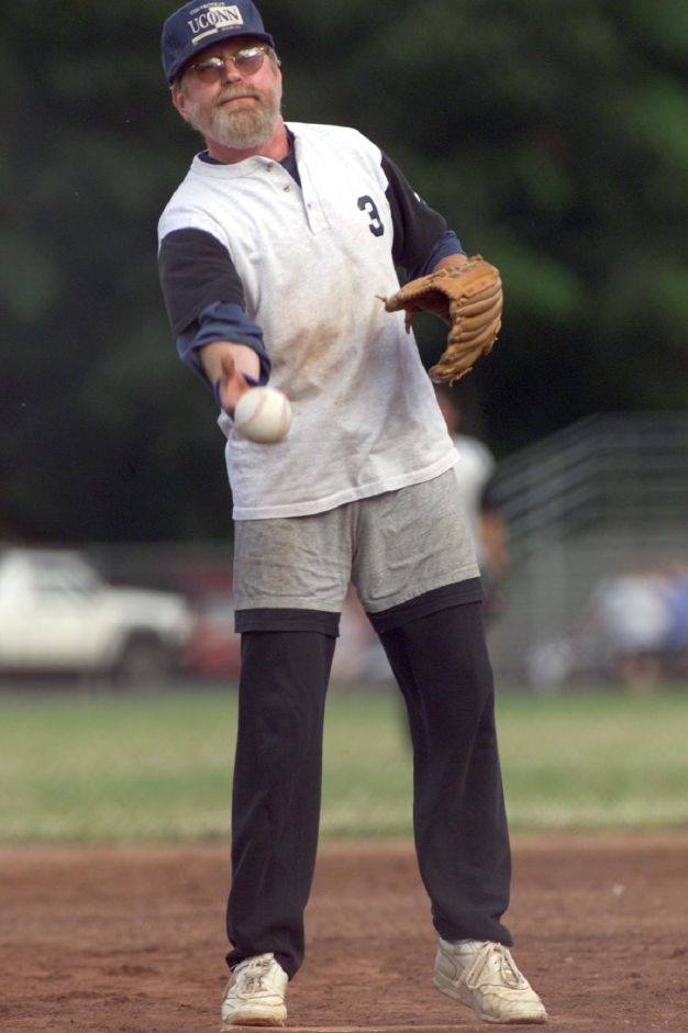 Walt Doerner of Wallingford , a pitcher for the Wallingford Post Office/V.F.W. Post 591 team, during their game againt BYK Chemie of Wallingford at Prageman Park Thursday evening, July 6, 2000.
