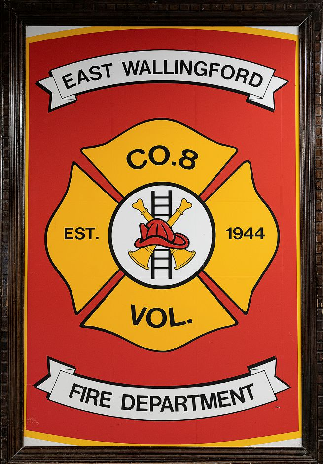 The emblem of East Wallingford Volunteer Fire Department Station 8, Tues., Feb. 26, 2019. Dave Zajac, Record-Journal